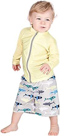SwimZip (スイムジップ) ラッシュガード水着セット Shark Feast 長袖ラッシュガード