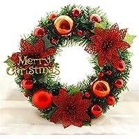 liankeshop クリスマス ドア吊り 輪花 壁 ウィンドウ 飾り ウェディング パーティー 装飾用 Christmas Hanging Garland
