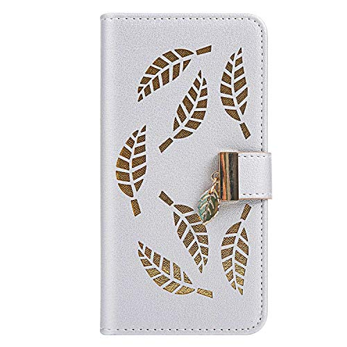 iPhone 6 / iPhone 6s ケース, ZeeboxR 高級感PUレザー 軽量薄型 財布型人気カバー, 人気 葉っぱエンボス加工 電話ケース, 付き金属製磁気バックル カード収納付 iPhone 6 / iPhone 6s 用 Case Cov