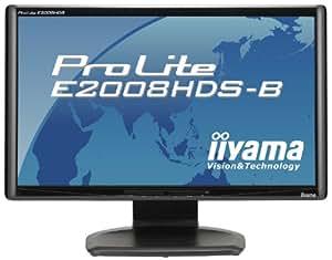 iiyama 20インチワイド液晶ディスプレイ 1600×900(HD+)対応 2系統入力装備 マーベルブラック PLE2008HDS-B1