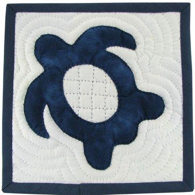 むら染め布でつくるホヌ(honu)のミニタペストリーキット ネイビー(紺)
