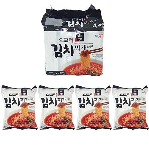 [八道/Paldo] GS25 オオモリ キムチチゲ ラーメン 4袋入 / 韓国食品 / 韓国ラーメン (海外直送) (160g * 4袋入)