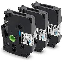ブラザー工業 tze tz tze-231 白地/黒字 12mm テープ ラミネートテープ 互換 ラベルライター p-touch cube PT-P300BT PT-D210 PT-P700 PT-J100P PT-P750W 長さ8m (3個セット)
