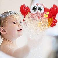 Tivolii バスタブ バブルメーカー かわいいカニの形 赤ちゃんのおもちゃ プール用水泳ソープマシン 子供用 プラスチック 子供用 幼児 子供用 全年齢対応