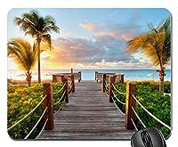 カリブ海のビーチタークスカイコス諸島サンセット新しいデザインラバーコンピューターマウスパッドマット