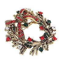 Perfeclan 全5カラー 合金製 ガールドールのため ジュエリー ブローチピン 服アクセサリー - 花輪