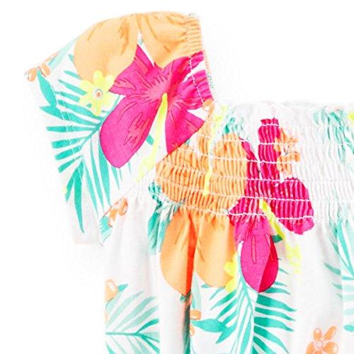 カーターズ(Carter's)2015年 ハワイアンロコガールウエストロープ付きノーリーブワンピース ドレス 花柄ワンピ (2t(88-93cm)) [並行輸入品]