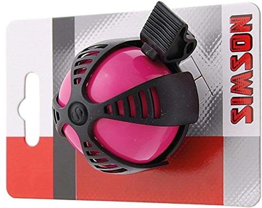 初心者拮抗する家畜SIMSON 自転車ベル ジョイ ピンク&ブラック スポーティーなデザイン カラフルカラー 付属リングで簡単装着 クリアートーン 021214