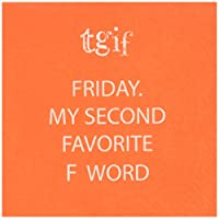 (TGIF) - Paperproducts Design Paper Napkins (20 Pack), TGIF, Friday My Second Favourite F Word, Multicolor