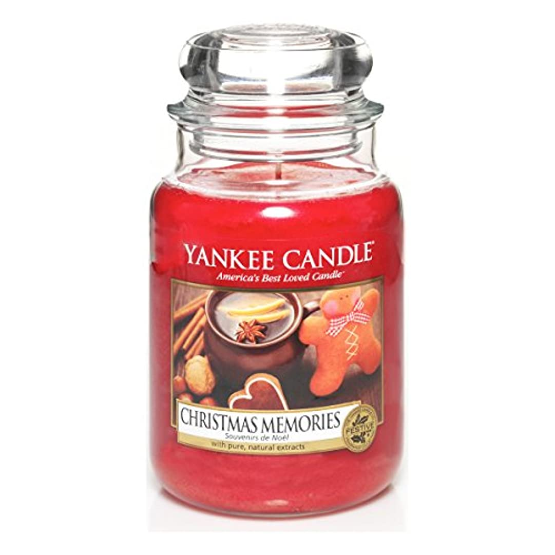 キャンセル収縮戦争Yankee Candle Large Jar Candle, Christmas Memories by Yankee Candle
