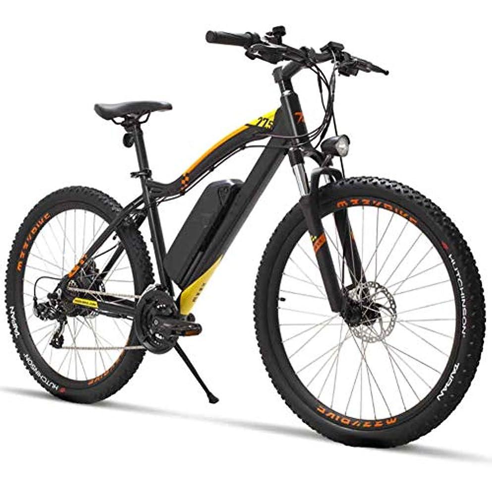 ベール輝度スマート27.5インチ電動自転車400W 48V-電動シティバイク大人向けリチウム電池付きShimano 21 Speed-ブラック