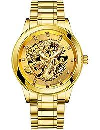 腕時計, Yeefant メンズ 腕時計 Watch ウォッチ 高級 時計 ドラゴン カジュアル ファッション ビジネス ステンレス 生活防水 腕時計 クラシック 男性用 ウォッチ