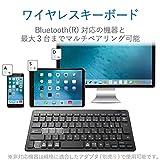 エレコム キーボード Bluetooth パンタグラフ ミニキーボード Windows・Mac・iOS・Android対応 【変換/ 無変換/ メニューキー搭載】 ブラック TK-FBP100BK 画像