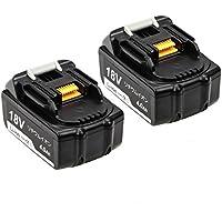 マキタBL1840 18v互換バッテリー 4.0ahバッテリー BL1840互換バッテリー18vバッテリー4.0ah 互換BL1830 BL1850 BL1860対応 マキタ 18v リチウムイオン電池 2個セット 1年保証付き