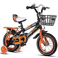 YANGFEI 子ども用自転車 子供用自転車 ブルーレッドオレンジ サイズ:12インチ、14インチ、16インチ、18インチ 発光補助ホイール 2〜12歳 (色 : イエロー いえろ゜, サイズ さいず : 16 inch)