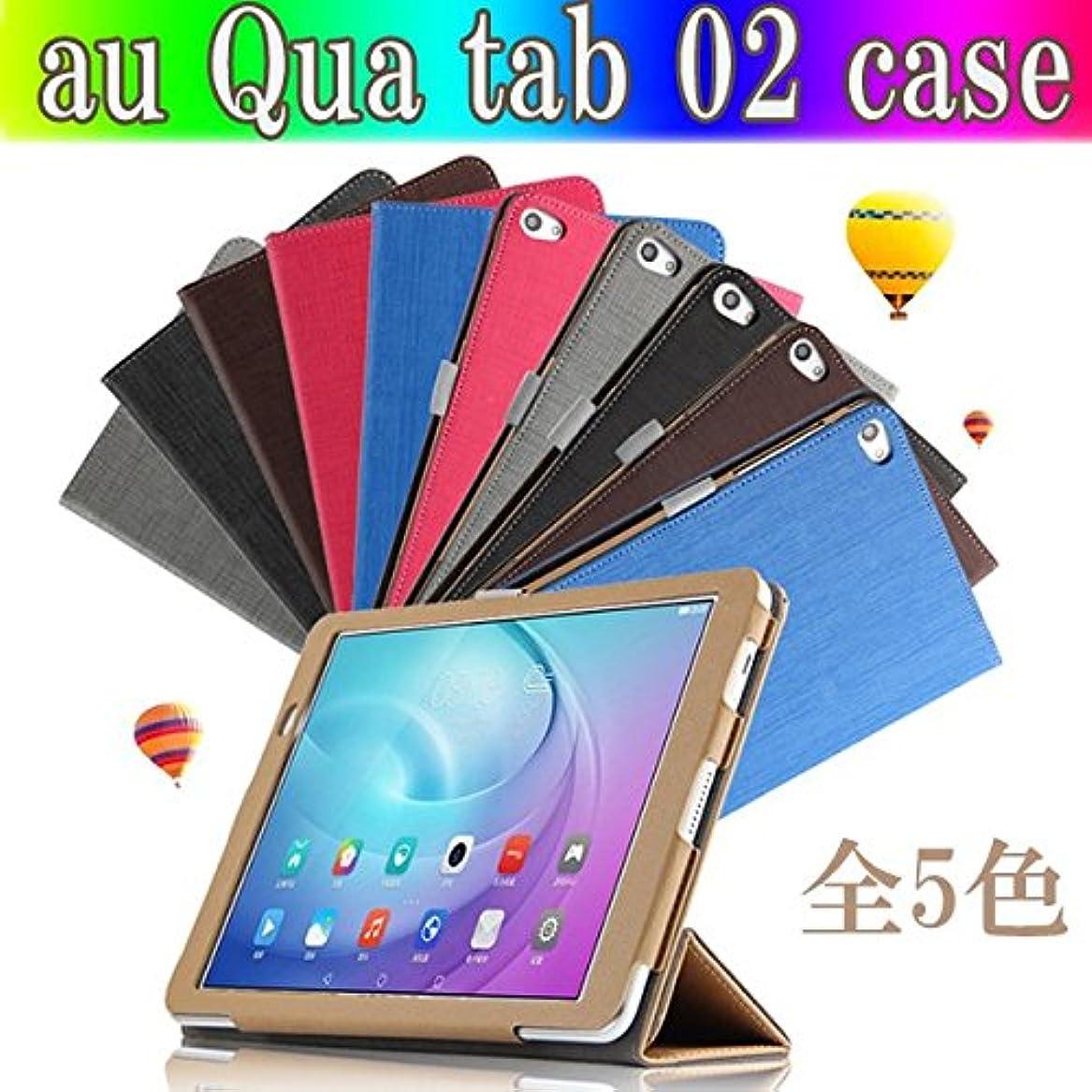 シャワー豊かにする達成するSP-MART(オリジナル)au Qua tab 02 ケース au Qua tab 02 カバー[全5色] スタンド 3つ折&色柄合せケース PUレザーケース au Qua tab 02 case au キュアタブ2 ケース au qua tab 02 cover エーユー Huawei Mediapad T2 10 Pro 10インチ タブレットPCケースesd3022_07 (Blue)