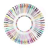Ohuhu カラーペン ジェルペン 水性ジェルボールペン 60色 セット 子供 / 大人の塗り絵 絵描き アート