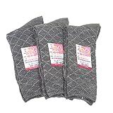 日本製 シルク(絹) 遠赤外線効果 口ゴムゆったり 三重奏ソックス レディース 22~24cm グレー 3足組