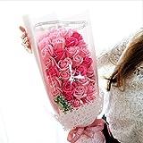 【ベルシック】 フレグランスソープフラワー ピンク ローズ フラワーアレンジ 花束 ほのかに香るお花 枯れないお花 お祝 イベント 誕生日 ギフト パーティ ギフトBOX付  <送料無料(一部地域を除き)>
