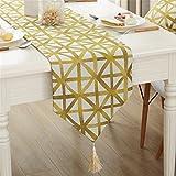 シンプル 幾何学 タータンチェック テーブルランナー キッチン ダイニング インテリア 32x220cm