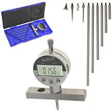 """iGaging Depth Gauge Digital Electronic Indicator 0-22"""" Measuring Range, 0.0005"""" Resolution, 2-Position Base (Inch/MM/Fractions)"""