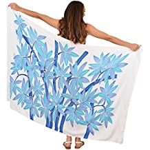 Island Style Clothing Sarong Bamboo Design Hand Painted + Free Coconut Clip