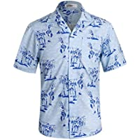 APTRO Men's Hawaiian Shirt Short Sleeve Summer Shirts