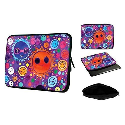 Snoogg 15インチから15.6インチラップトップノートブックスリップケーススリーブソフトケースキャリーケースfor MacBook Pro Acer Asus Dell Hp Sony Toshiba
