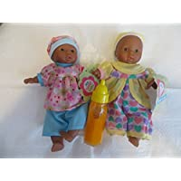 1 Mini Toysmith Baby Doll African American Plus 1 Magic Disappearing Milk Baby Doll Bottle Ages 3yrs +