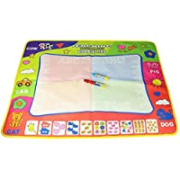 Cyeah Doodle図面マットLargeマジック水図面ペイントWritingマットパッドボードwith 2ペンfor Kids 31.5 X 23.6インチ4色