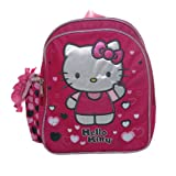 Mini Backpack - Hello Kitty - Lonely Hearts Pink School Bag New 628574