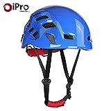 ヘルメット スポーツ アウトドア 登山 調整可能 自転車用 クライミング 保護 安全 探検 岩登り洞窟探検 5色 (ブルー)