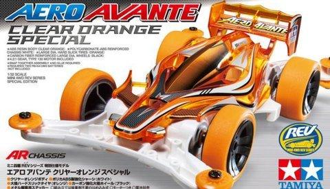 ミニ四駆限定 エアロアバンテ クリヤーオレンジスペシャル(95083)
