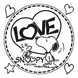 アークス(AXS) SNOOPYステッカー LOVE SNOOPYSNS-36 ブラック