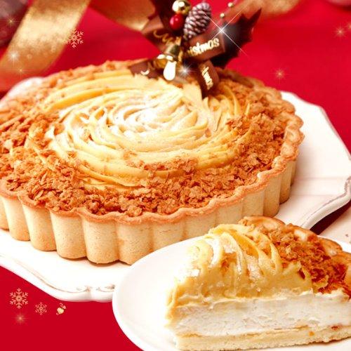 クリスマスケーキ お芋専門店の濃厚チーズケーキタルト(5号)