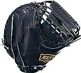ZETT(ゼット) 軟式野球 プロステイタス キャッチャーミット 新軟式ボール対応 ナイトブラック(1900N) 右投げ用 日本製 BRCB30922