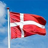 旗ポリエステルデンマーク国旗バナー屋外屋内90x150cm