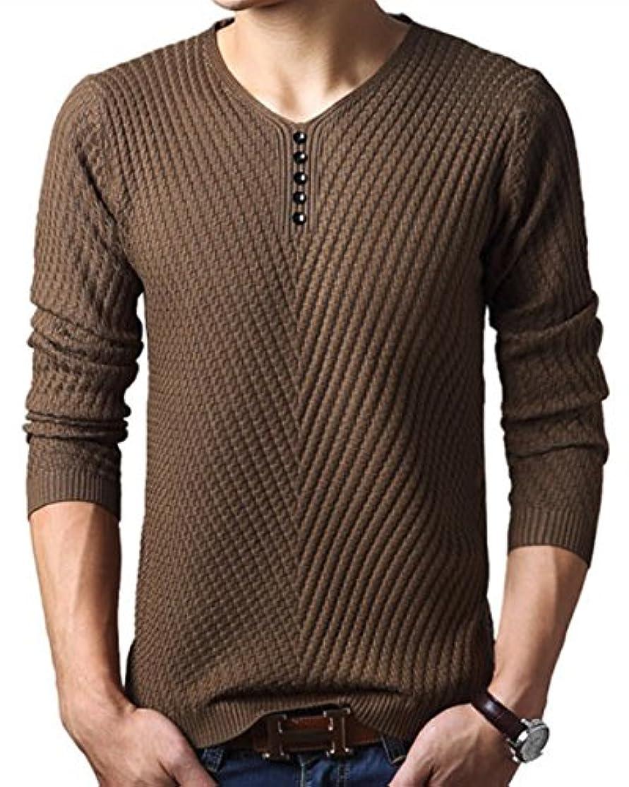 スパーク備品バラ色(リザウンド) ReSOUND メンズ 長袖 カットソー ニット セーター シャツ 長袖 トップス 457