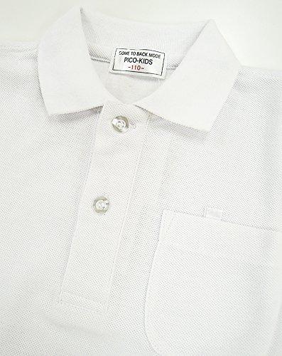 鹿の子半袖ポロシャツ(白)子供/スクール/キッズ/小学生/制服/男女兼用/110cm(10100)
