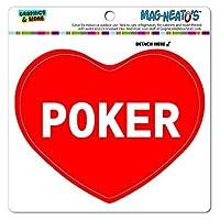 I 愛ハート - スポーツの - ポーカー - MAG-NEATO'S(TM) ビニールマグネット