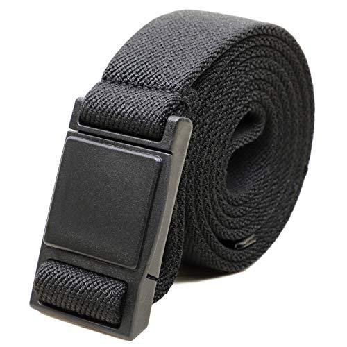 atelierCODEL ゴムベルト メンズ マグネットバックル 日本製【ウエスト120cmまで対応】 (ブラック)