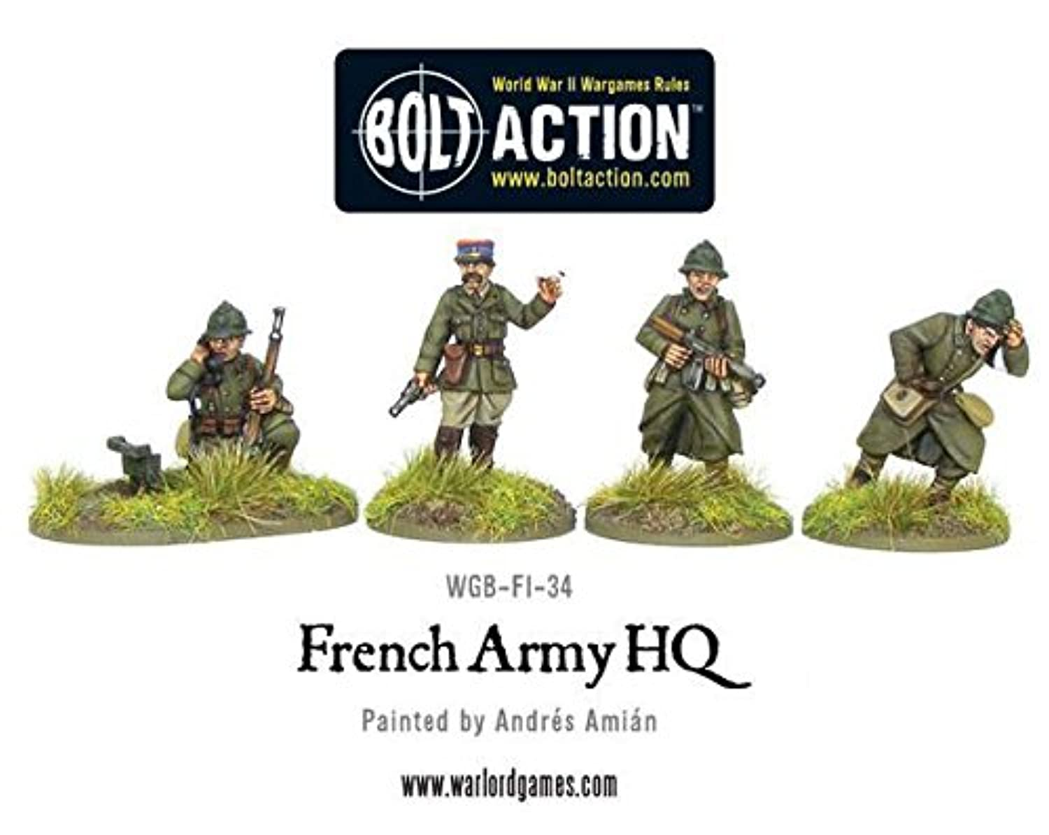 Warlord Games - French Army; Hq, 28mm Bolt Action Wargaming Miniatures