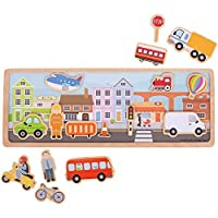 Bigjigs Toys Magnetic Picture Board-City [並行輸入品]