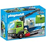 (Glass Sorting Truck) - Playmobil 6109 City Action City Cleaning Glass Sorting Truck