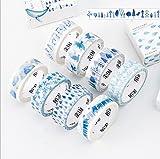 MUSTY マスキングテープ 可愛いテープ  Masking tape  青の物語 音符 雨の...