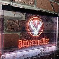 Jagermeister Deer Drink Bar LED看板 ネオンサイン バーライト 電飾 ビールバー 広告用標識 ホワイト+オレンジ 40cm x 30cm
