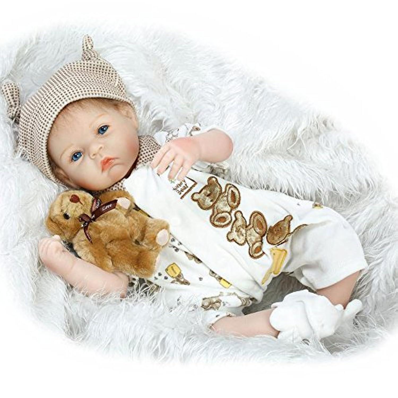 リアルなソフトシリコン男の子Reborn人形22インチベビー人形Lifelikeベビー人形Children Gifts