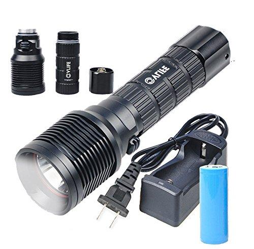CVLIFE CREE XM-L2 T6 LED ハンディライト  懐中電灯 超輝度 3200lm 26650バッテリー付き 防水機能付き