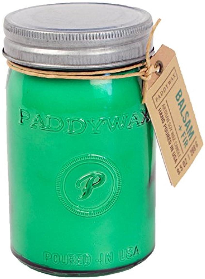磨かれたシリング用量Paddywax Relish Collection Jar Candle, Large, Balsam Fir [並行輸入品]