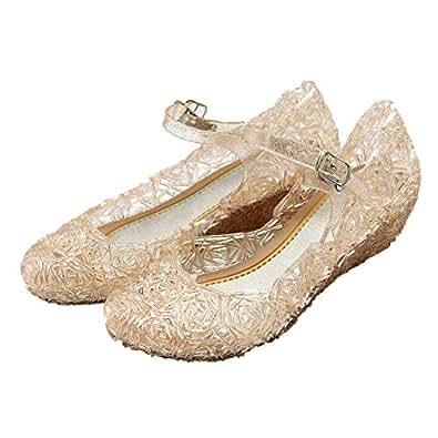 [Mulslect] キッズ ラバーシューズ 子供靴 女の子 メリージェーン ゼリーバードネスト レイヤードサンダル お姫様 ハロウィン コスプレ パーティー 仮装 ドレスシューズ